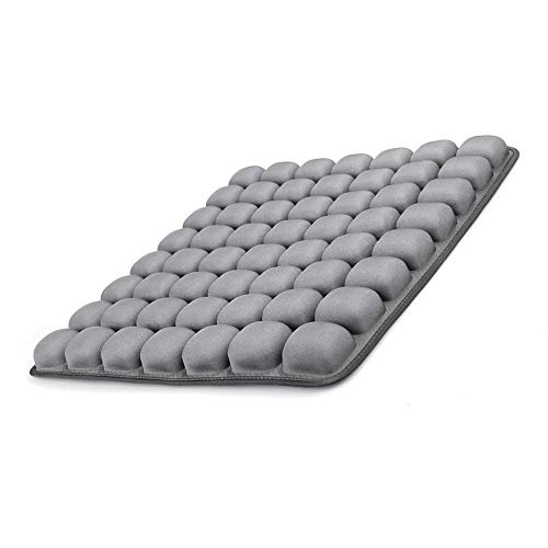 GRECUTE Air Inflatable Seat Cushion for Office, Study, Driving, Gaming,Wheelchair -(18''x16'') 3D Stereo Airbag Adjustable Seat Cover Air Cushion for Hip Stress Relief(Grey)