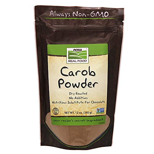 Free Gluten Carob - Carob Powder, Dry Roasted, 12 oz, NOW Foods