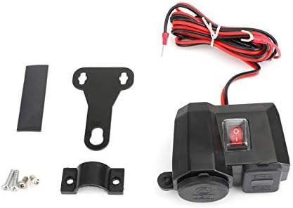 Artudatech オートバイバイク USB充電器 12v / 24v 電源 アダプターソ ケット 携帯電話 GPS 防水 電圧計が付いている