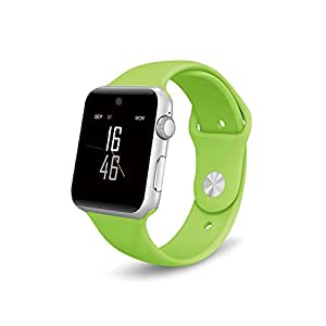 DM09 bluetooth Smart Watch HD Screen Support SIM Card Wearable Devices SmartWatch For apple Android ios phone (green)