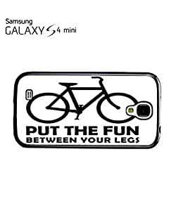 Bike Put the Fun Between Your Legs Mobile Cell Phone Case Samsung Galaxy S4 Mini White by lolosakes