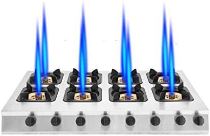 ステンレス鋼ガス専門バーナーストーブトップ、商業3/4/6/8ガスコンロ、国内ガス/液化ガスストーブ