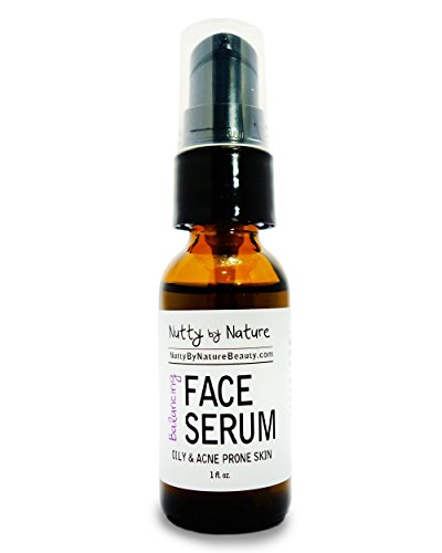 Nutty By Nature Balancing Face Serum - Oily and Acne Prone Skin - 100% Natural by Nutty By Nature