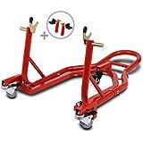 Caballete trasero peana aparcamiento moto ConStands Mover II rojo para Honda CRE 250/ 450/ R, CRE-F 250/ 450/ 500/ R/ X, CRE-M 125/ 250, CRF 100 F, CRF 150 F/ R/ RB