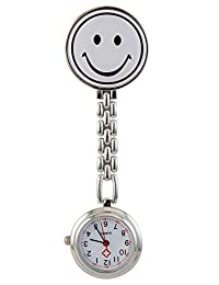 Boys and Girls White Smile Face Pocket Watch
