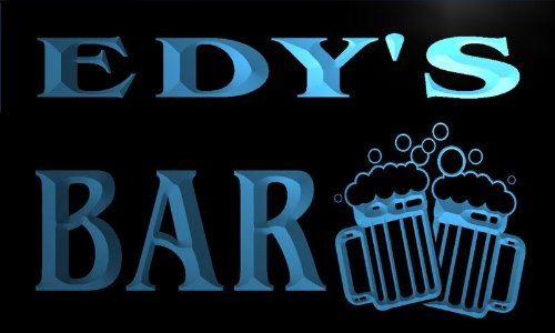 w117002-b-edys-name-home-bar-pub-beer-mugs-cheers-neon-light-sign