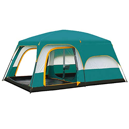Tent shade rain tent multi-person camping tent 6 people 8 people 10 people 12 people two rooms one hall double tent easy to install camping tent outdoor use instant pop-up family camping tent