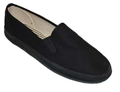 Mens Canvas Deck Shoes Sneakers 3 Colors Available (7, Black Decks)