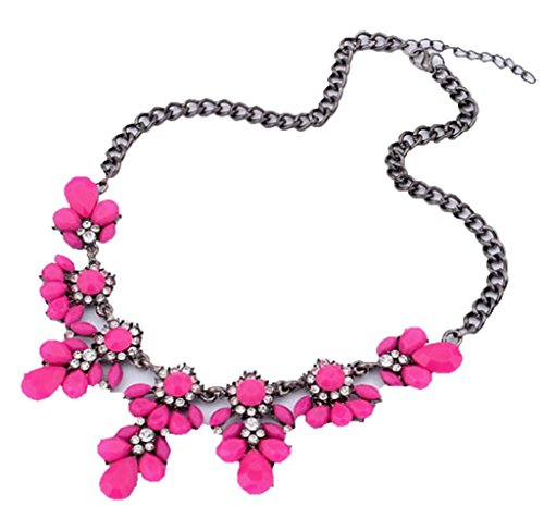 Usstore Women Vintage Flower Crystal Bubble Bib Choker Statement Necklace Chain Wedding Pendants Partty Gift Alloy (Hot (Hot Dollar Costumes)