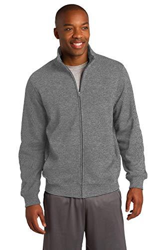 (Sport-Tek Men's Full Zip Sweatshirt M Vintage Heather)