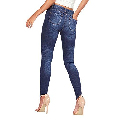 Floral Pant Imprim Lisli Fleur fonc Collants Pantalon Slim Haute Fit Printemps Joggings Femme Bleu Fille Et Taille Jean SS7qUg