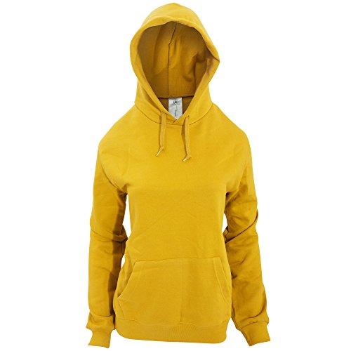 B&C - Sudadera con capucha para mujer Gris