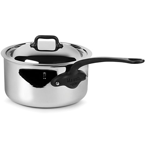 Mauviel M'Cook Pro 5-ply Stainless Steel 3.6-quart Saucepan with Lid