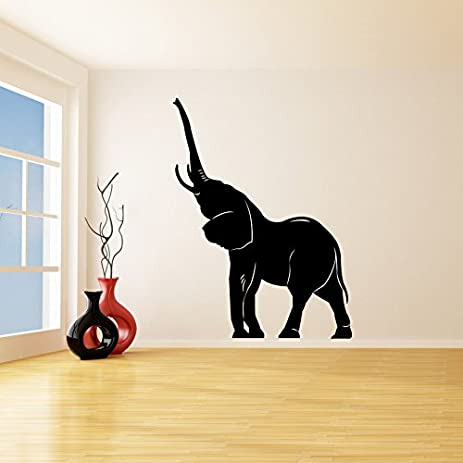 59 x 79 vinyl wall decal lucky elephant trunk up african