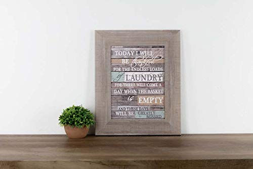 Summer Snow Be Thankful for Laundry Room Decor Coral Aqua Children Barnwood Rustic Wood Decor 13x16 (Room Pictures For Laundry)