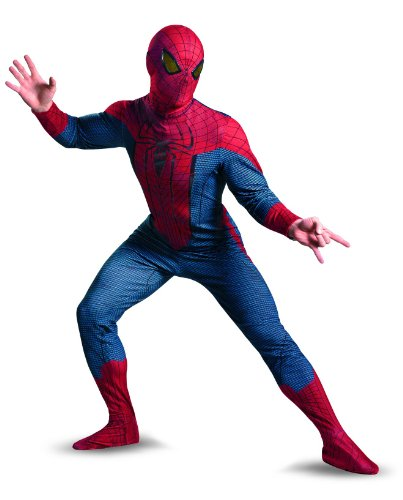 Disguise Marvel The Amazing Spider-Man Movie Deluxe Adult Licensed Costume, Red/Blue/Black, X-Large (42-46)