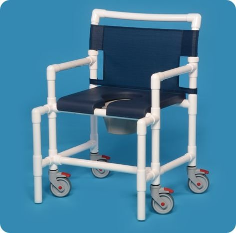 Innovative Products Unlimited SCC750 OS N-Shower Chair Commode with Deluxe Soft Seat