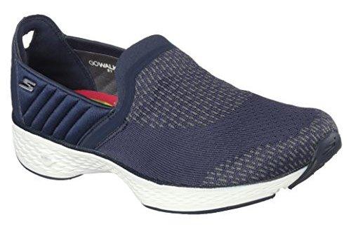 Skechers Ladies Go Walk Sport Slip-On Navy/White 5.5 Medium