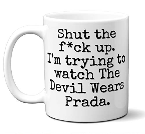 (The Devil Wears Prada Gift Mug. Funny Parody Movie Lover Fan