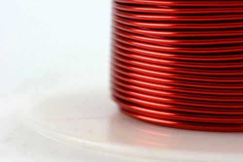 TEMCo 18 AWG Copper Magnet Wire - 4 oz 50 ft 155°C Magnetic Coil Red