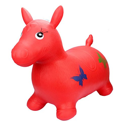 Big Hopper - Newsfana Large Size Horse Hopper Inflatable Toy animals,More tasteless non-toxic environmental protection(Color Sent Randomly)