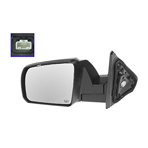Power Heated Side View Mirror w/Textured Cap Driver Left LH for Sequoia Tundra - Toyota Tundra Mirror Lh Driver
