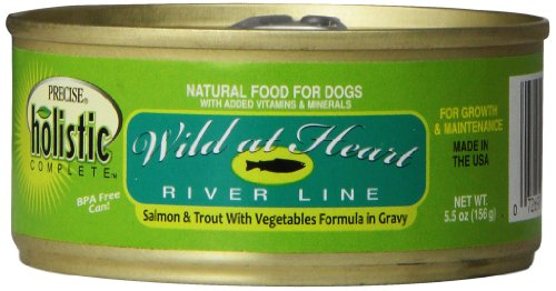 Precise 726372 24-Pack Holistic Complete Grain Free Salmon/Trout Food for Pets, 5.5-Ounce