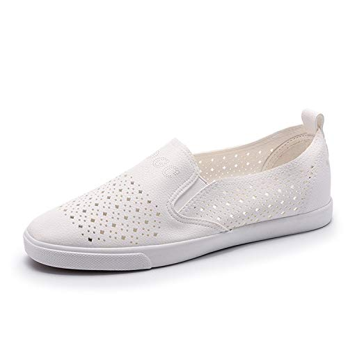 Richard Nguyen Hole Shoes Ladies Leather Soft Flats Shoes Vulcanized Vulcanized Shoes Slip On Women Sneakers B07H5BS6FK Shoes 9dff9c