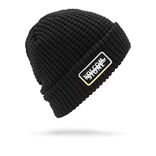 Volcom Men's Scribble Stone Beanie, Black, One Size Fits ()