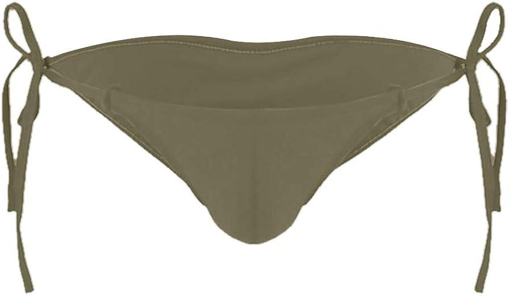 Men/'s Elastic Drawstring G-Strings Thongs,Inverted Triangle Rear Hollow Underwear Sissy Cute Panties Lingerie by Leegor