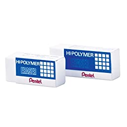 Pentel Hi-Polymer Pencil Eraser ZEH-05, Pack 3 pcs