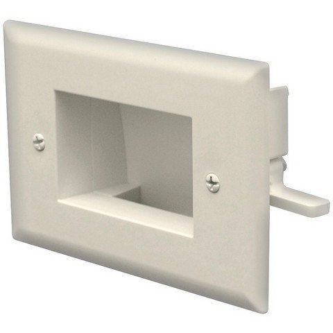 Datacomm Electronics 45-0008-Iv Easy-Mount Recessed Low-Voltage Cable Plate ()