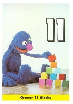 Grover Sesame Street trading card 1992 IM Henson #12 Eleven - Blocks Grover
