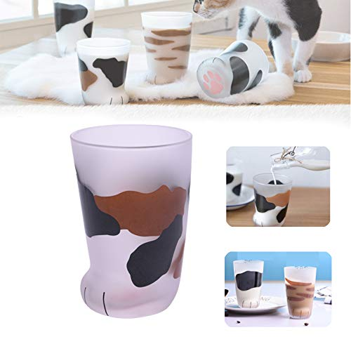 Cat Claw Cup Milk Glass Frosted Glass Cup Cat Paw Coffee Kids Milk Glass Cups Tumbler Personality Breakfast Milk Porcelain Cup Cat Paw Glass Cup by