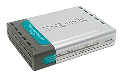 D-Link DSS-5+ 5-Port 10/100 Switch, Desktop
