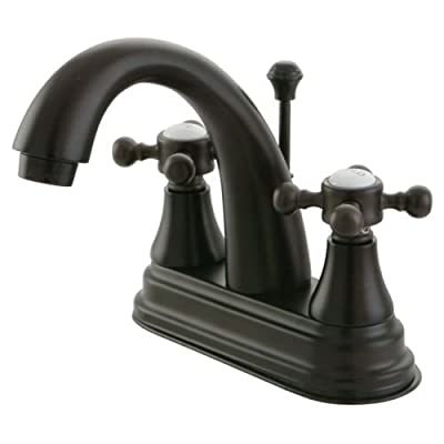 Kingston Brass KS761.BX English Vintage Centerset Bathroom Faucet with Brass Pop,