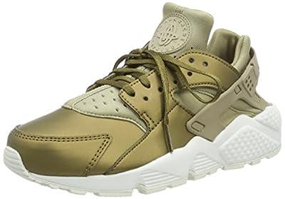 Nike Air Huarache Run PRM TXT Women's Running Shoes Khaki/Summit White aa0523-201 (10 B(M) US)