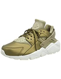 NIKE Air Huarache Run Premium TXT Women Khaki White AA0523-201