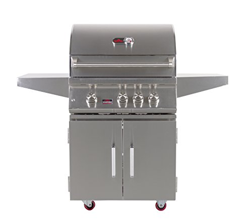 BONFIRE 3 Premium Gas Grill 28 Freestanding Cart