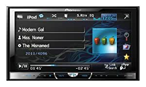 """Pioneer AVH-3400DVD Negro receptor multimedia para coche - Radio para coche (4.0 canales, AM,FM, 24-bit, MOSFET, 17,8 cm (7""""), 16:9)"""