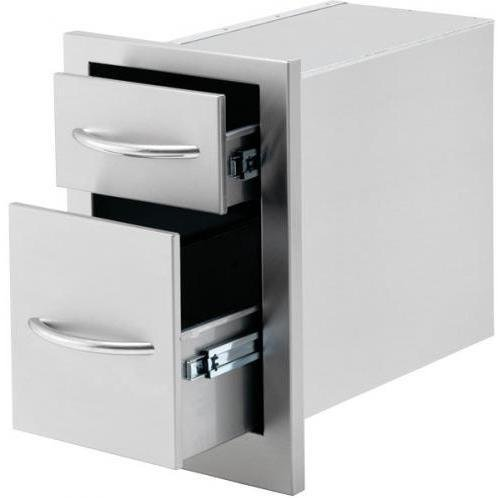 Cal Flame 13-inch Double Access Drawer