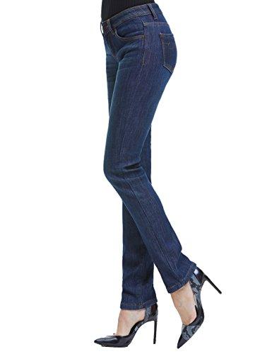 Camii Mia Women's Thick Thermal Slim Fit Jean Pants (W30 x L32, Blue Grey (new size)) by Camii Mia (Image #3)