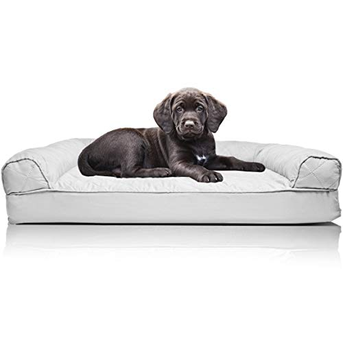 Furhaven Pet Orthopedic Sofa Dog Bed for Dogs Cats