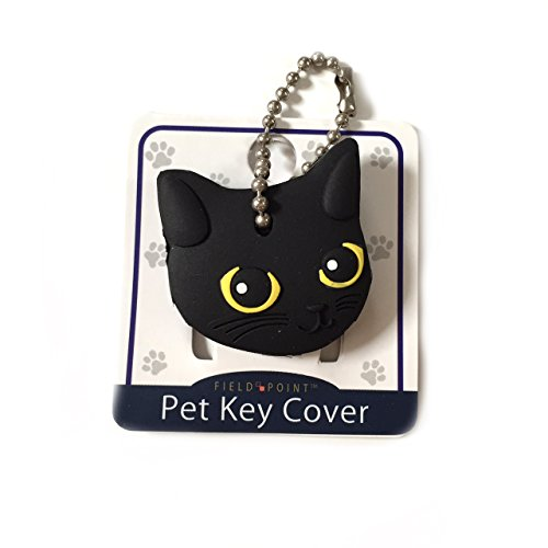 Field Point Key Cover/Key Caps/Key Holder/Keycaps - Cute Animal Pet Faces (Black Cat) ()