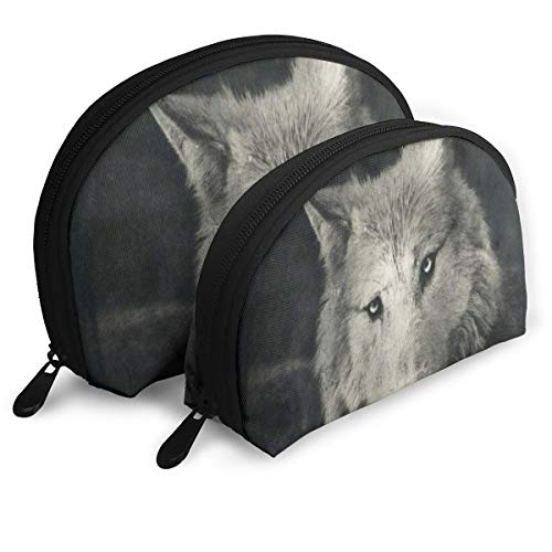 Makeup Bag Halloween Night Wolf Handy Shell Cosmetic Bags Case For -
