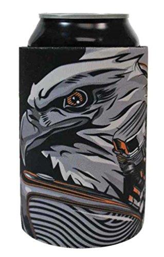 Harley-Davidson Bar & Shield Eagle Engine Neoprene Can Wrap, Black CW20266