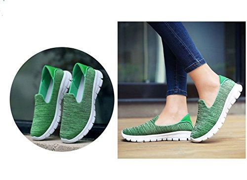 verano de ocasional la B deporte para cuña mujeres respirable de de Zapatillas color Color el las puro del deportes del recorrido deporte Zapatillas de talón los tamaño caminan que del 38 de T68qWwnxH