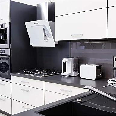 Klarstein Lorea - Campana extractora , Extractor , Extractor de Pared , Aspiración/Ventilación , 3 Niveles , Potencia 280 m³/h , Cristal , Panel ...