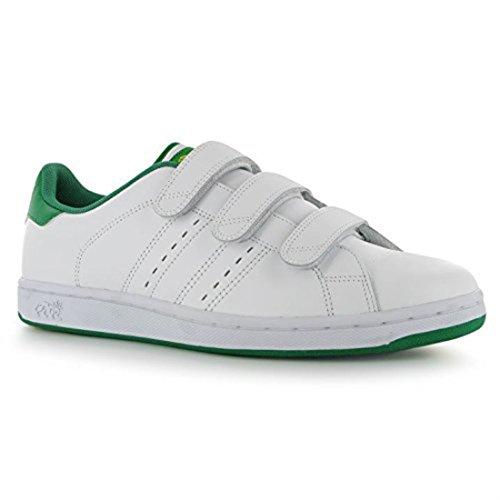 Lonsdale Mens Leyton Formateurs Sport Décontracté Chaussures Chaussures Blanc / Vert