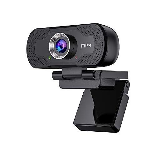 chollos oferta descuentos barato Mifa Cámara Web T80 Webcam PC Cámara de Computadora 1080P Full HD con Micrófono y Luz Indicadora de Privacidad Webcam USB para PC para Videoconferencia Enfoque Automático